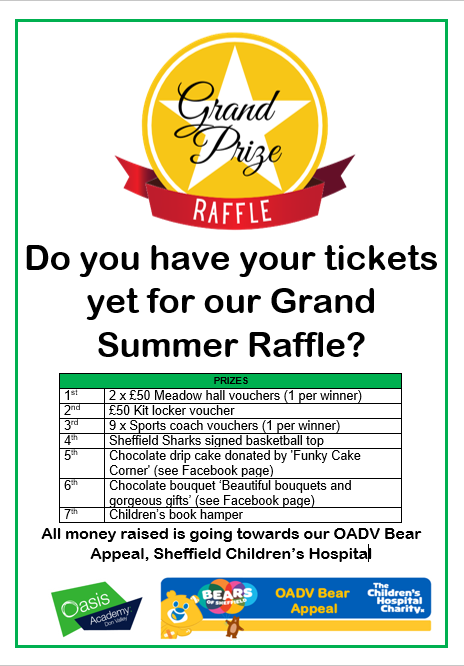 Grand Raffle for Bear Appeal