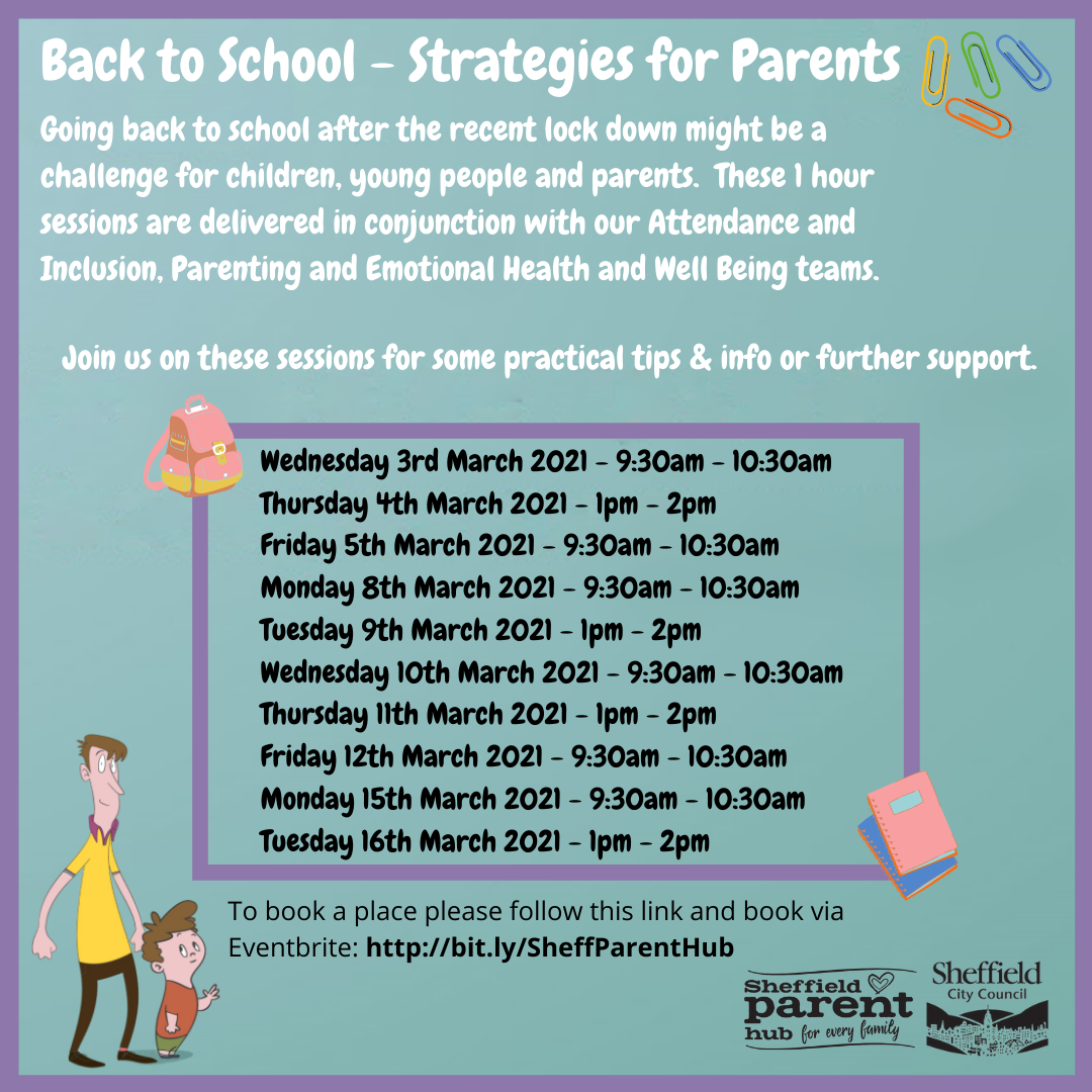 Back to School- Strategies for Parents