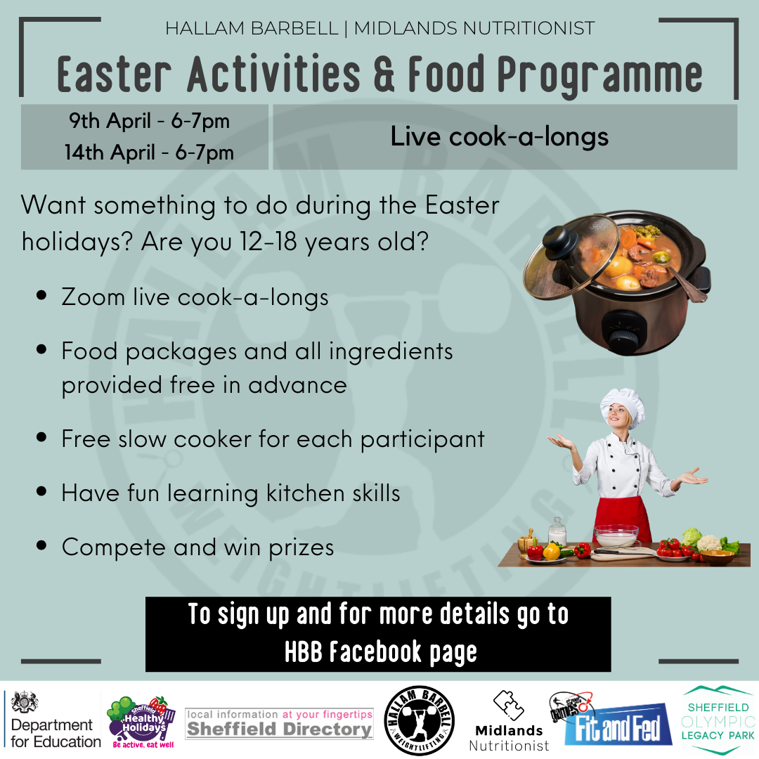 Hallam Barbell Easter Holidays and Food Programme