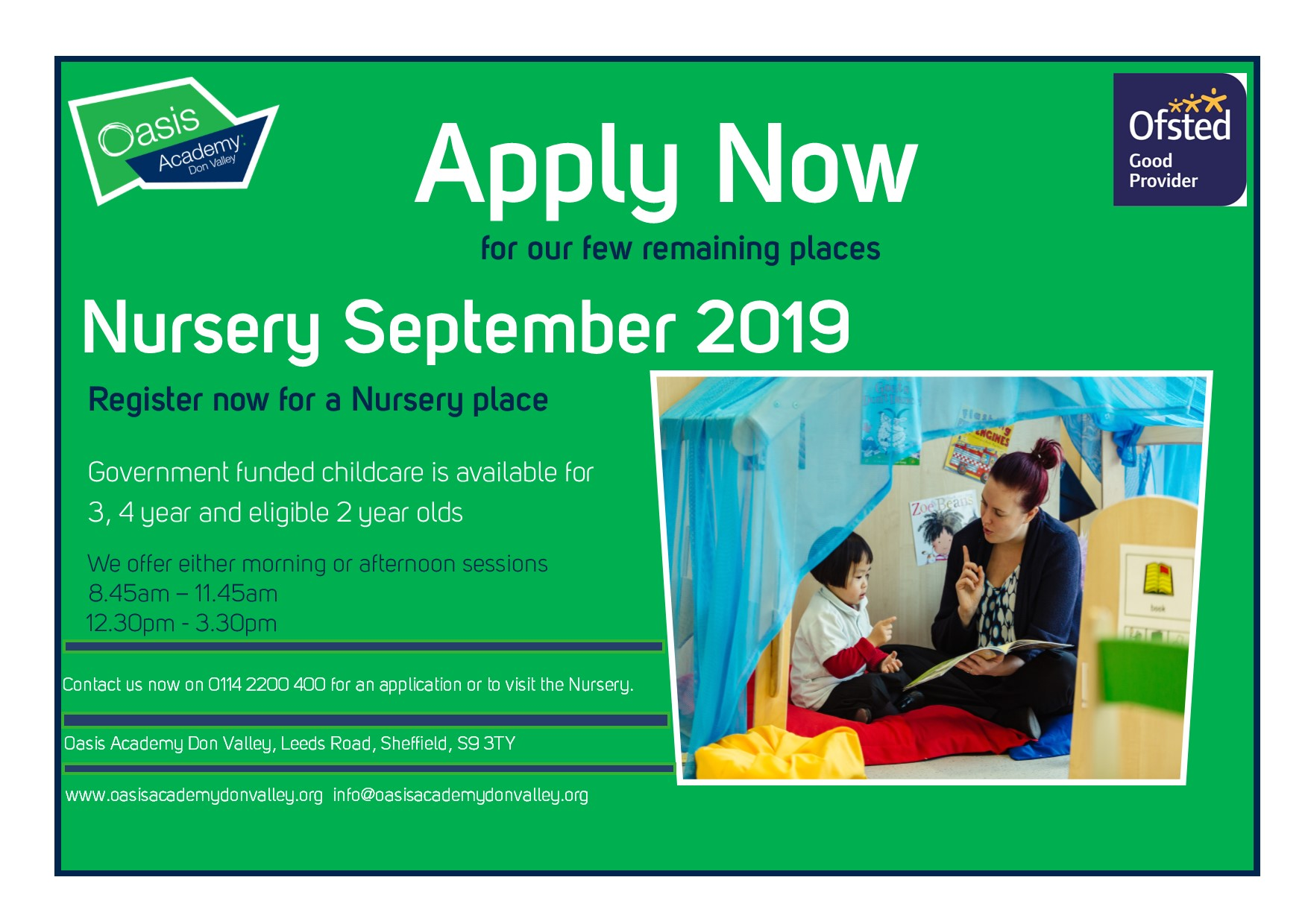 Nursery Places applications now open!